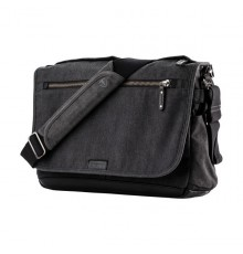 Torba fotograficzna TENBA Cooper 15 Slim Camera Bag - Grey Canvas - Black Leather