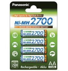 PANASONIC AKUMULATOR R6/AA Ni-MH 2700 mAh - 4 szt blister