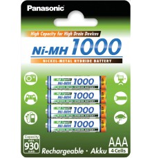 PANASONIC AKUMULATOR R03/AAA Ni-MH 1000 mAh - 4 szt blister