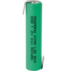 Ansmann Akumulator NiMH Rechargeable battery / 800 mAh max with solder tail