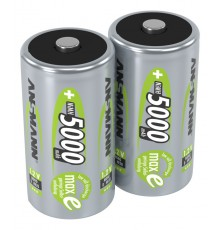 Ansmann Zestaw akumulatorów NiMH Rechargeable battery D / HR20 5000 mAh max 2 pcs.