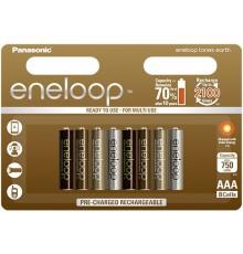 PANASONIC ENELOOP EARTH R03/AAA 750 mAh - 8 szt blister