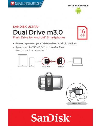 PenDrive SANDISK ULTRA DUAL DRIVE m3.0 16GB 130MB/s