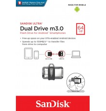 PenDrive SANDISK ULTRA DUAL DRIVE m3.0 64GB 150MB/s