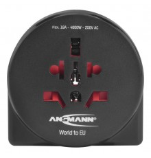 Ansmann Adapter podróżny Travel plug 'World to EU'