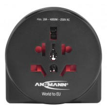 Ansmann Adapter podróżny Travel plug 'World to EU + USB'
