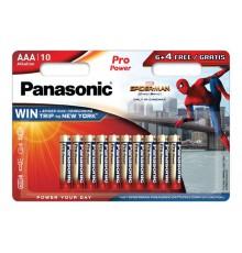 PANASONIC BATERIA ALKALICZNA LR3/AAA PRO POWER SPIDER-MAN 6+4 FREE - 10 szt blister