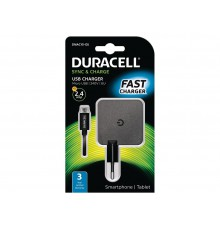 Duracell ładowarka sieciowa 5V 2.4A + kabel USB / micro USB 1m czarny