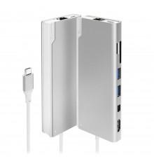 ALOGIC stacja dokująca Ultra USB-C Dock PLUS - Srebrny