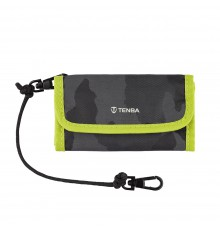 TENBA Tools Reload SD 9 Card Wallet - Black Camouflage/Lime