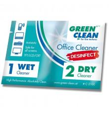 Green Clean Zestaw ściereczki mokra + sucha - 100 kpl.