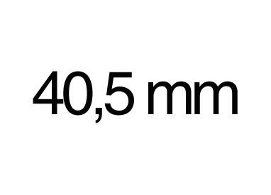 40,5 mm