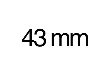 43 mm