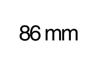 86 mm