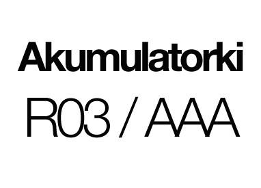 Akumulatorki R03 / AAA